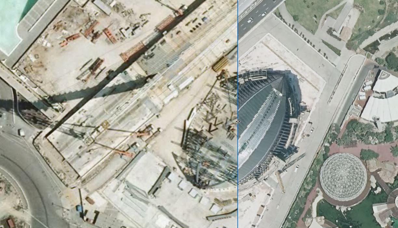 El Ágora, en 2003 y en 2018