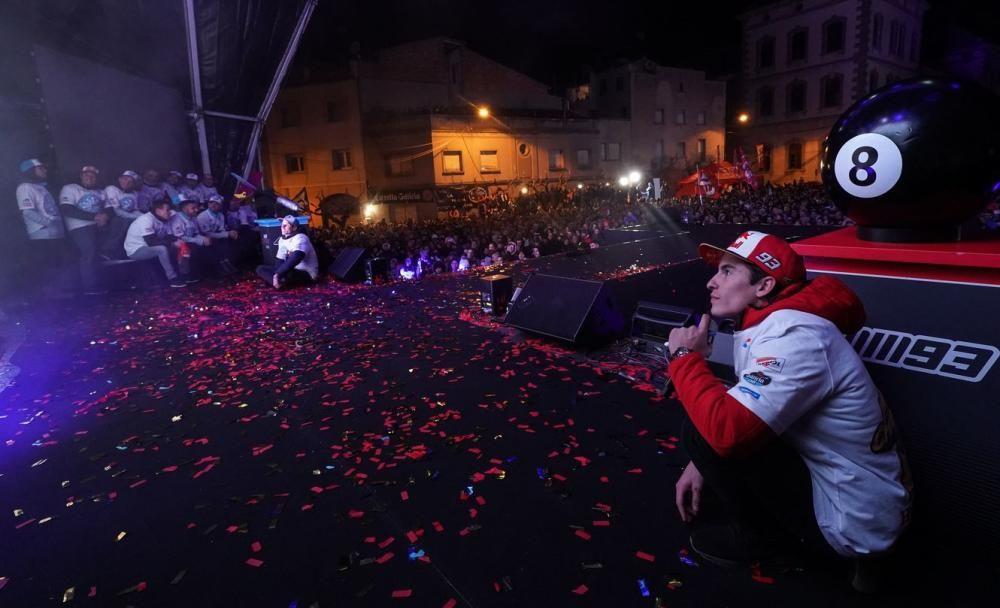 Fiesta de celebración en Cervera de Marc Márquez y su hermano Álex