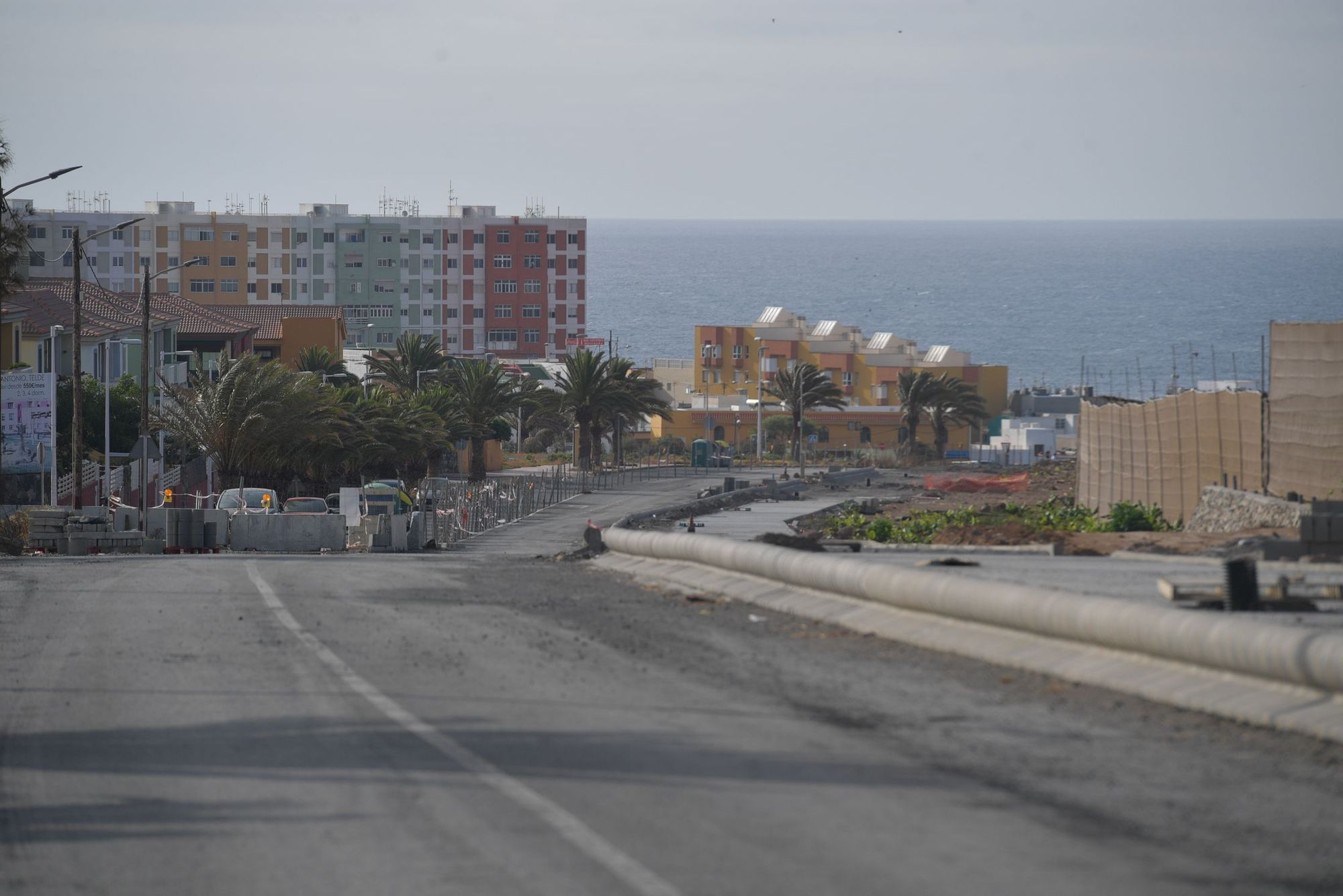 Así está el ensanche de la carretera de Melenara (02/07/21)