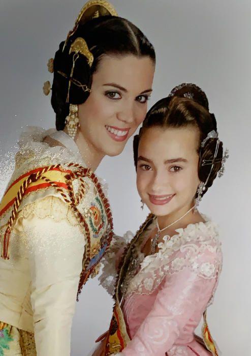 Con su fallera mayor, Leticia Ruiz