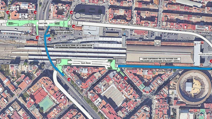 La Línea 10 del centro a Natzaret entrará en servicio en marzo