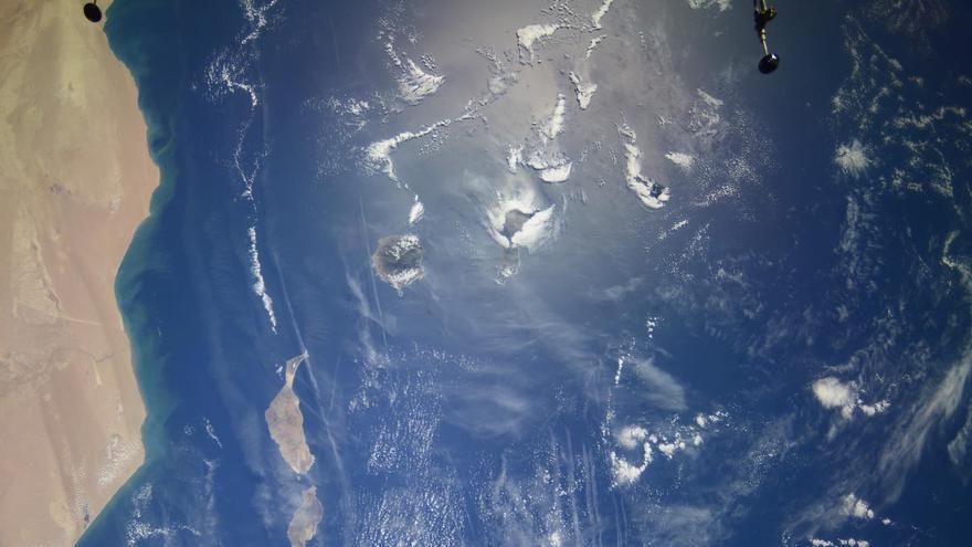 Así se ve Canarias desde el espacio este viernes