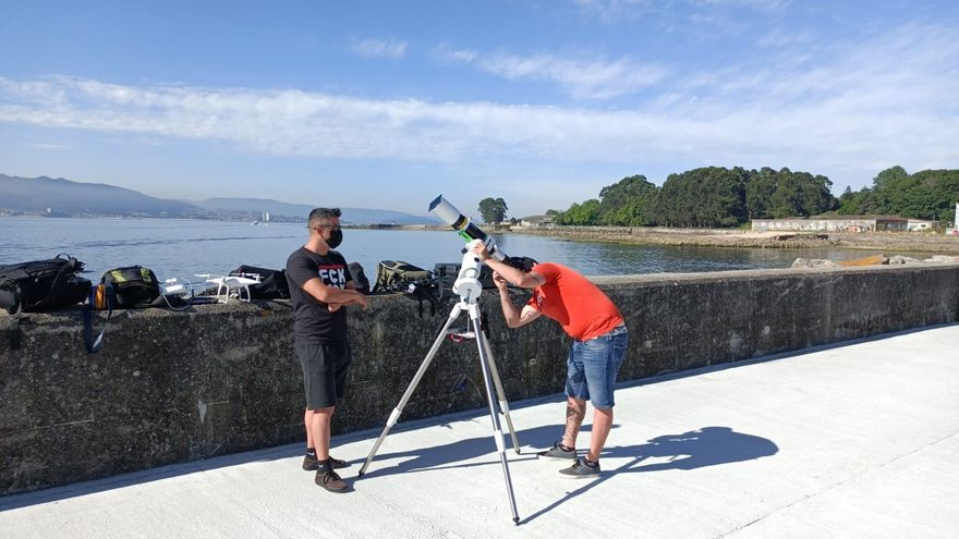 El espectacular 'time lapse' sobre cómo se vio el eclipse solar desde Cangas