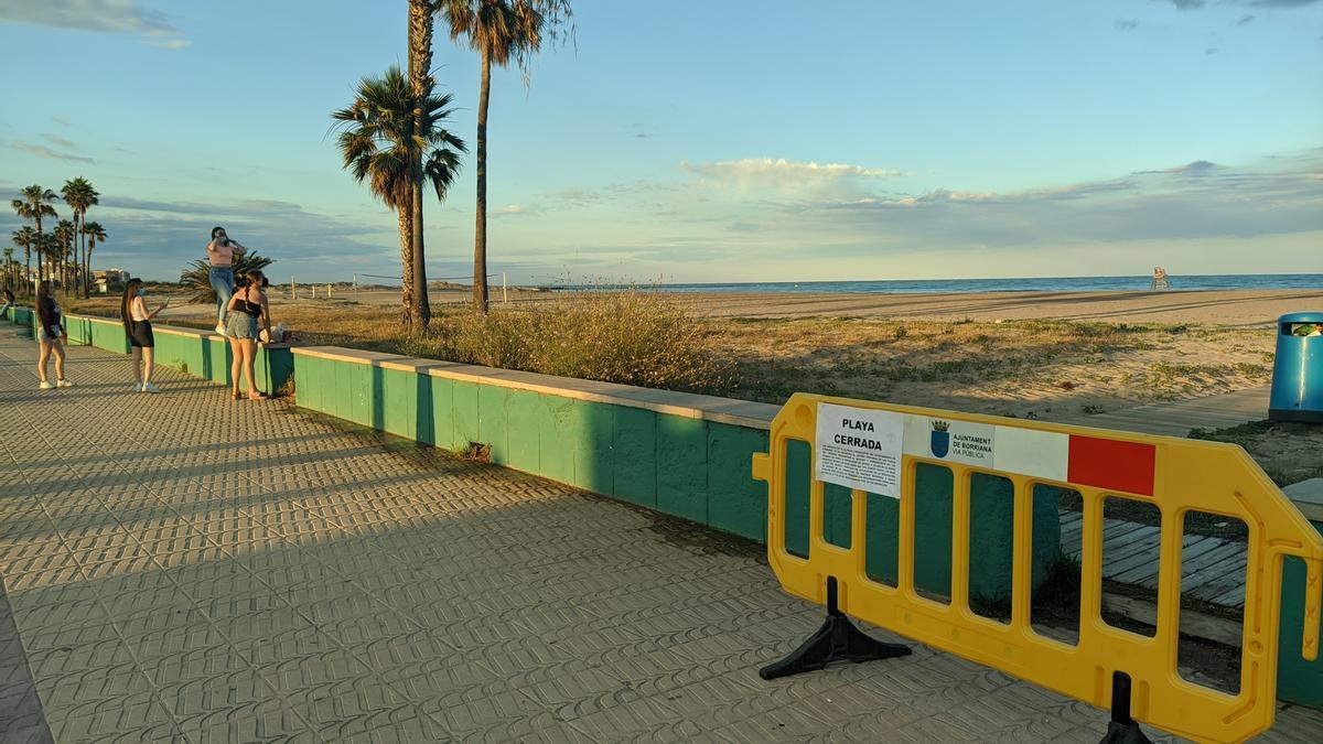 Imagen de Burriana este miércoles con ocasión del cierre de las playas por Sant Joan.