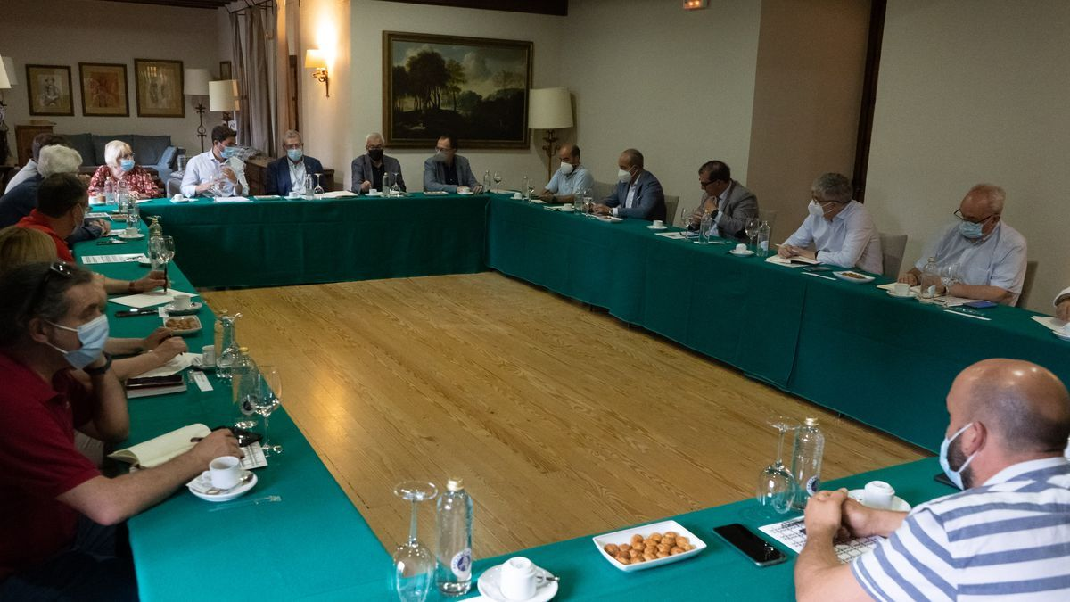 Reunión de Francesc Boya con agentes económicos y sociales de Zamora.