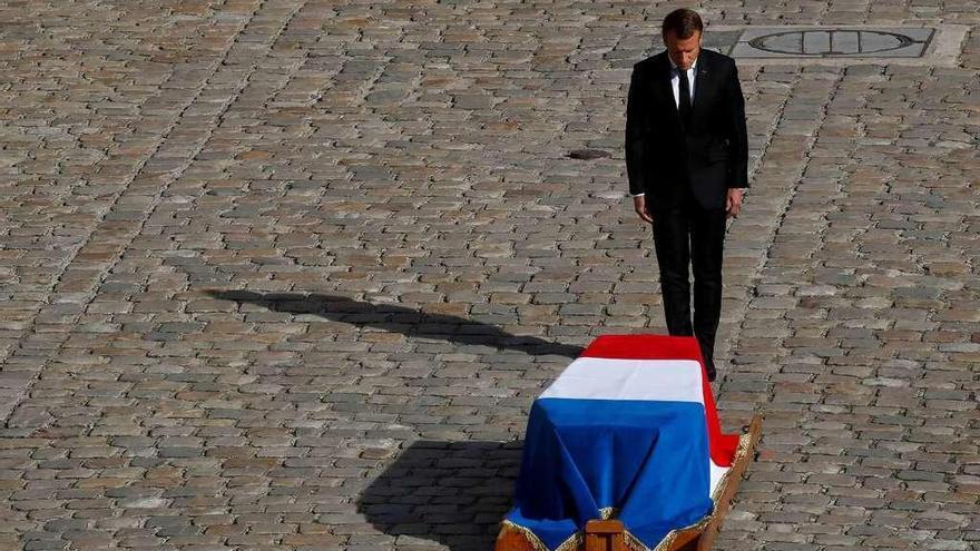 Medio centenar de dirigentes mundiales despiden a Chirac en París