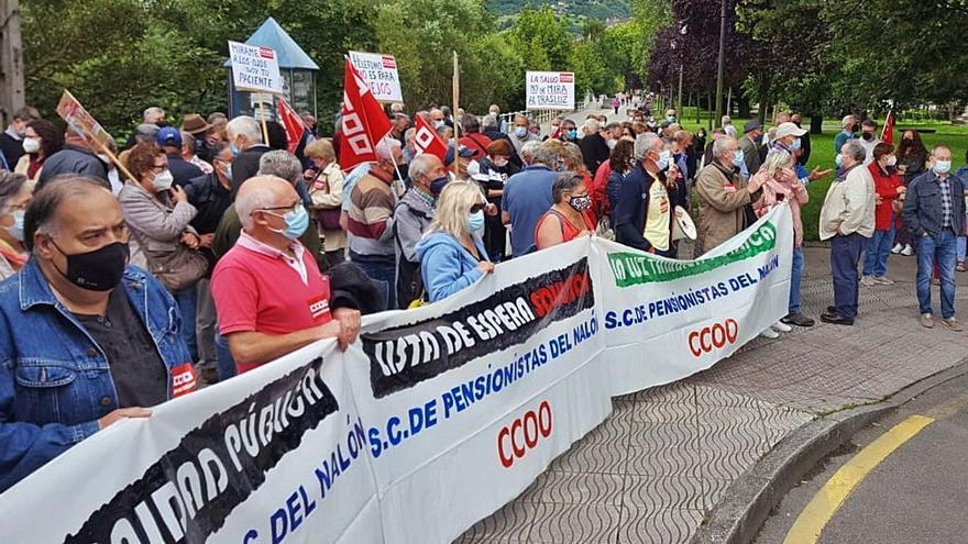 Protesta para que toda la atención sanitaria sea presencial