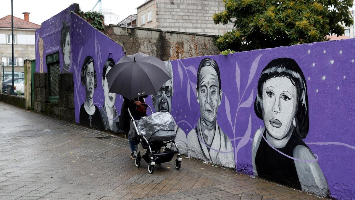 El mural feminista de la Gran Vía.