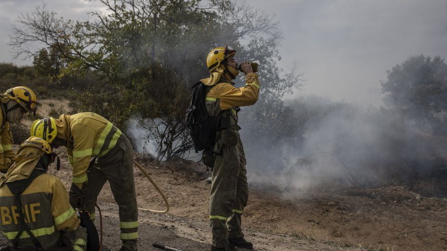 El incendio de Carbajosa y Cerezal ronda las 650 hectáreas