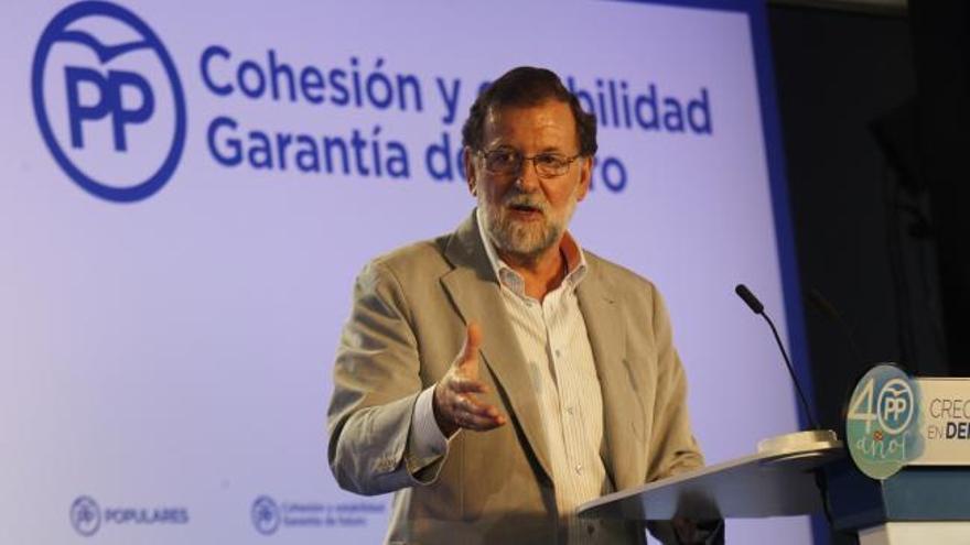 Rajoy: ''Nadie va a liquidar la democracia española''