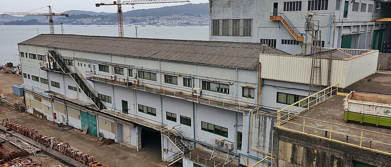 Vista parcial de las instalaciones de la antigua Factorías Vulcano. |   // MARTA G. BREA