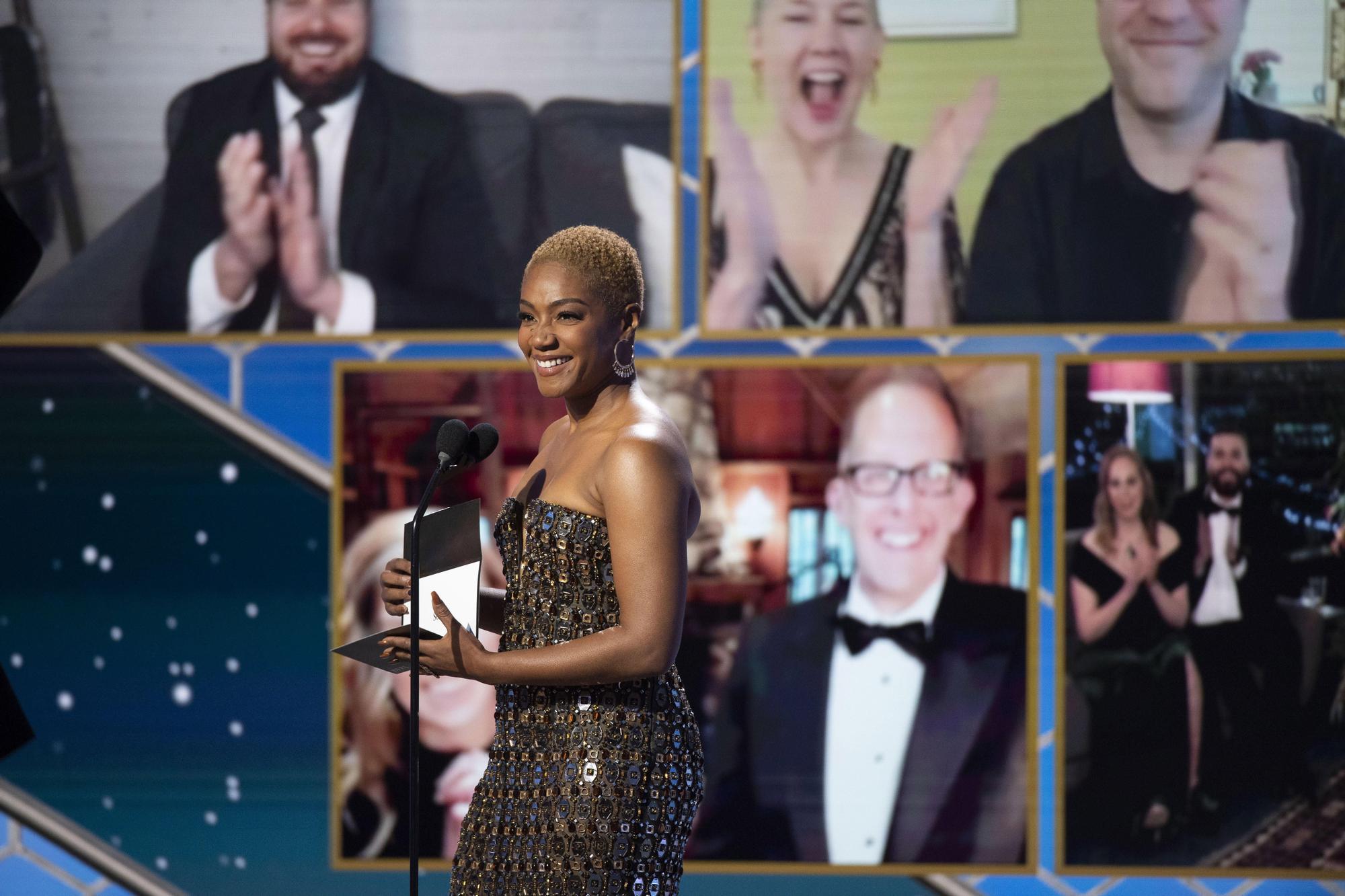 Tiffany Haddish presentando la 78ª edición de los Globos de Oro.