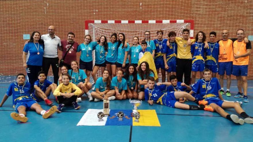 Canarias logra el título en masculinos y bronce en féminas