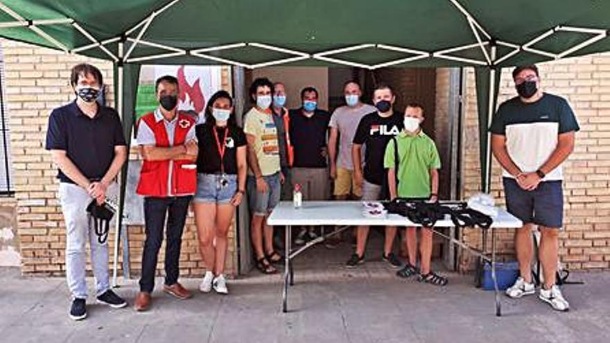 Los Majorals recogen alimentos en Bocairent