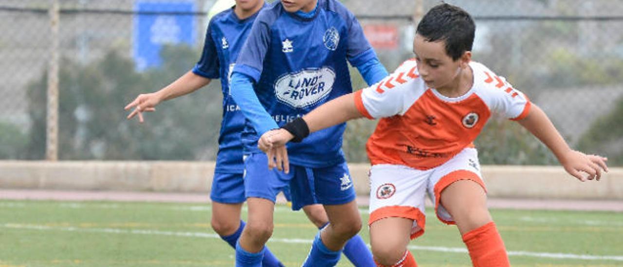 Momento de un partido de benjamines entre los equipos del Corazón de María y Acodetti al inicio de la temporada 2019-20.