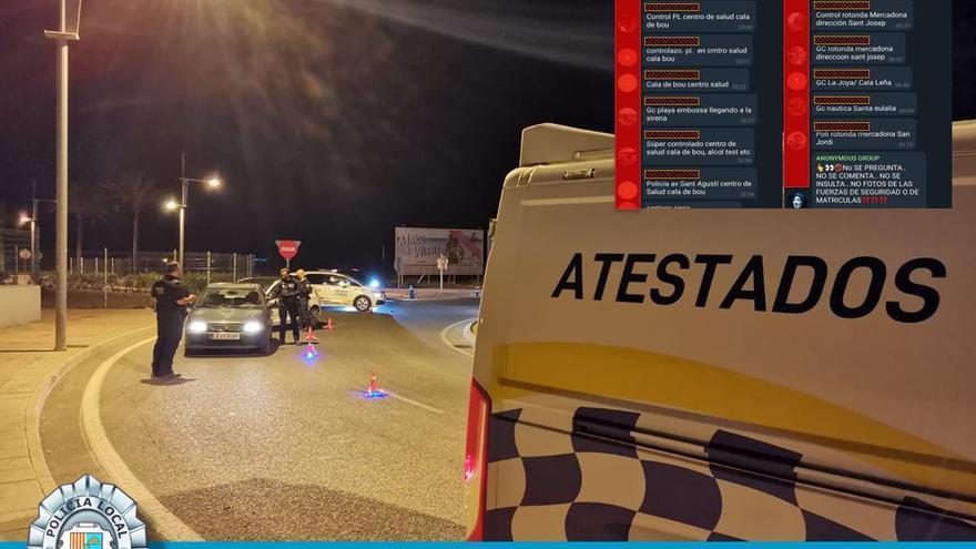 Cinco positivos en alcohol y drogas en un control policial en Ibiza