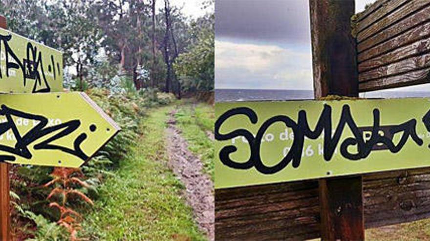 Vandalismo en el monumento natural