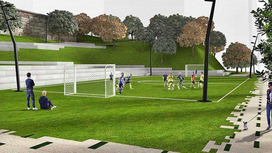 Un parque Cela renovado y accesible