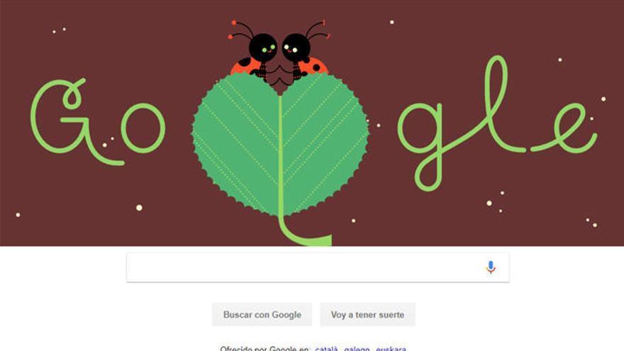 Google celebra el día de San Valentín
