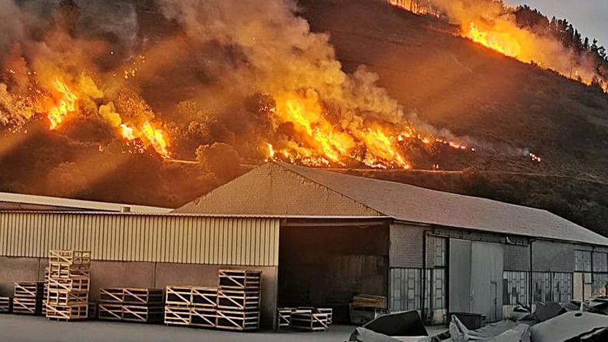 Unas 200 hectáreas devastadas por las llamas en Carballeda de Valdeorras