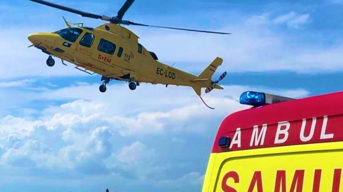 Imagen de una actuación de la SAMU aérea