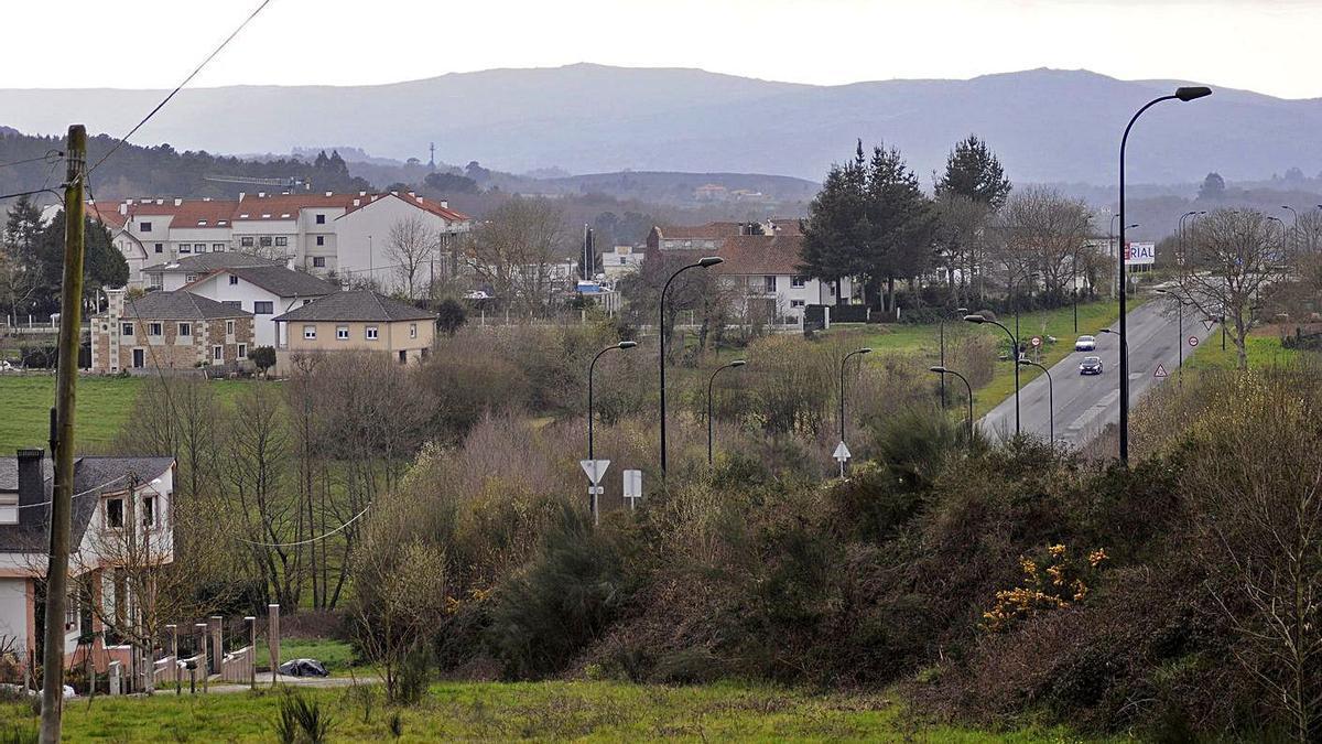 Zona en donde se proyecta la urbanización de A Trigueiriza.