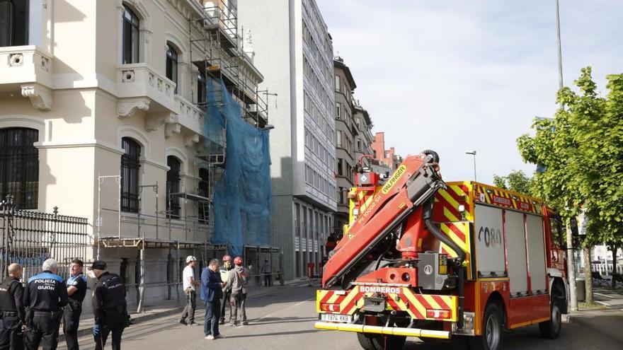 Accidente en la obra del antiguo Banco Urquijo
