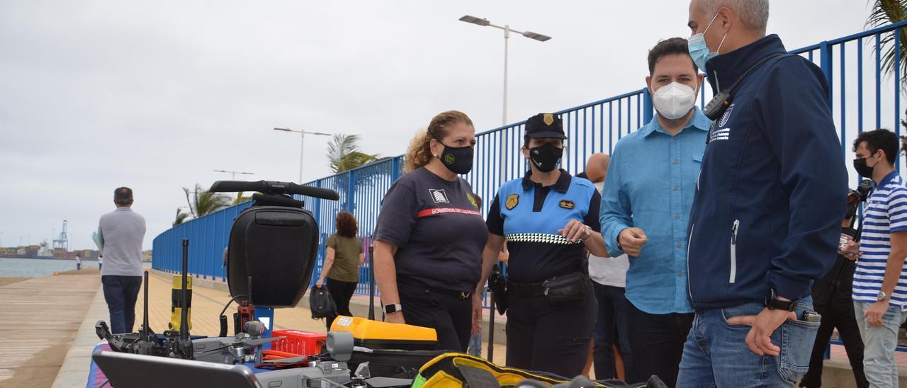 Presentación del dispositivo estival de seguridad de Las Palmas de Gran Canaria.