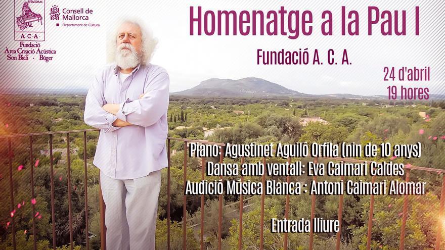 La Fundació ACA inicia este sábado el ciclo 'Homenatge a la Pau'