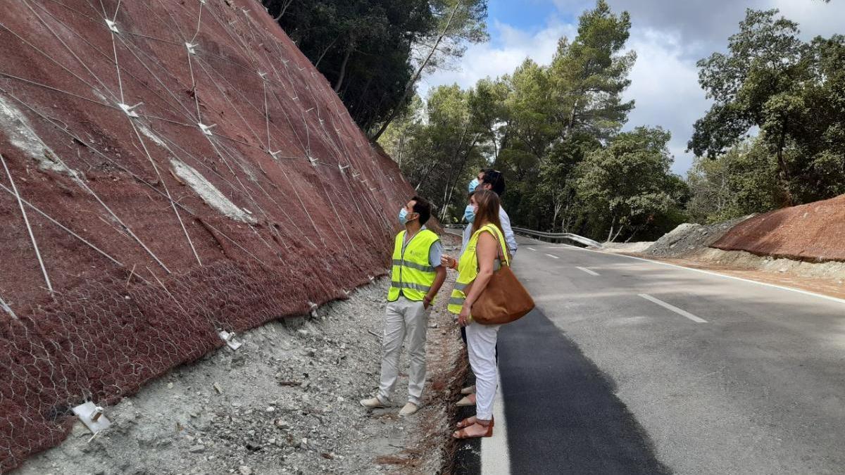 Finalizadas las obras de emergencia en la carretera entre Alaró y Orient