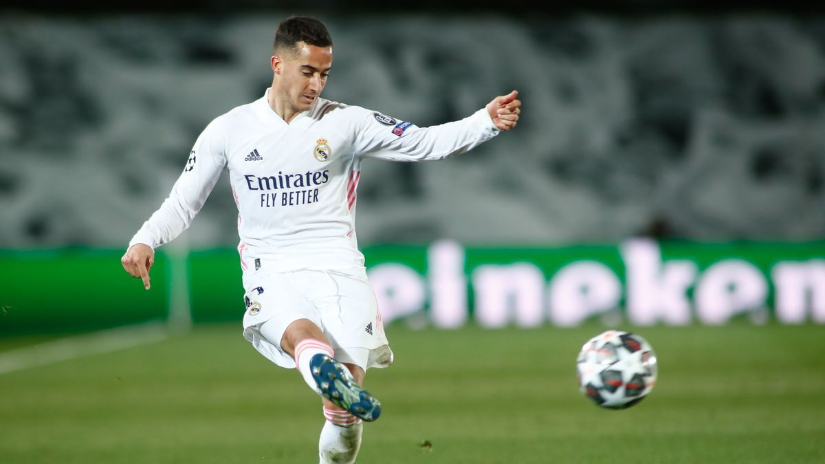 Lucas Vázquez in the game against Liverpool