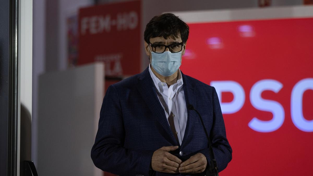 El candidato del PSC a la presidencia de la Generalitat, Salvador Illa