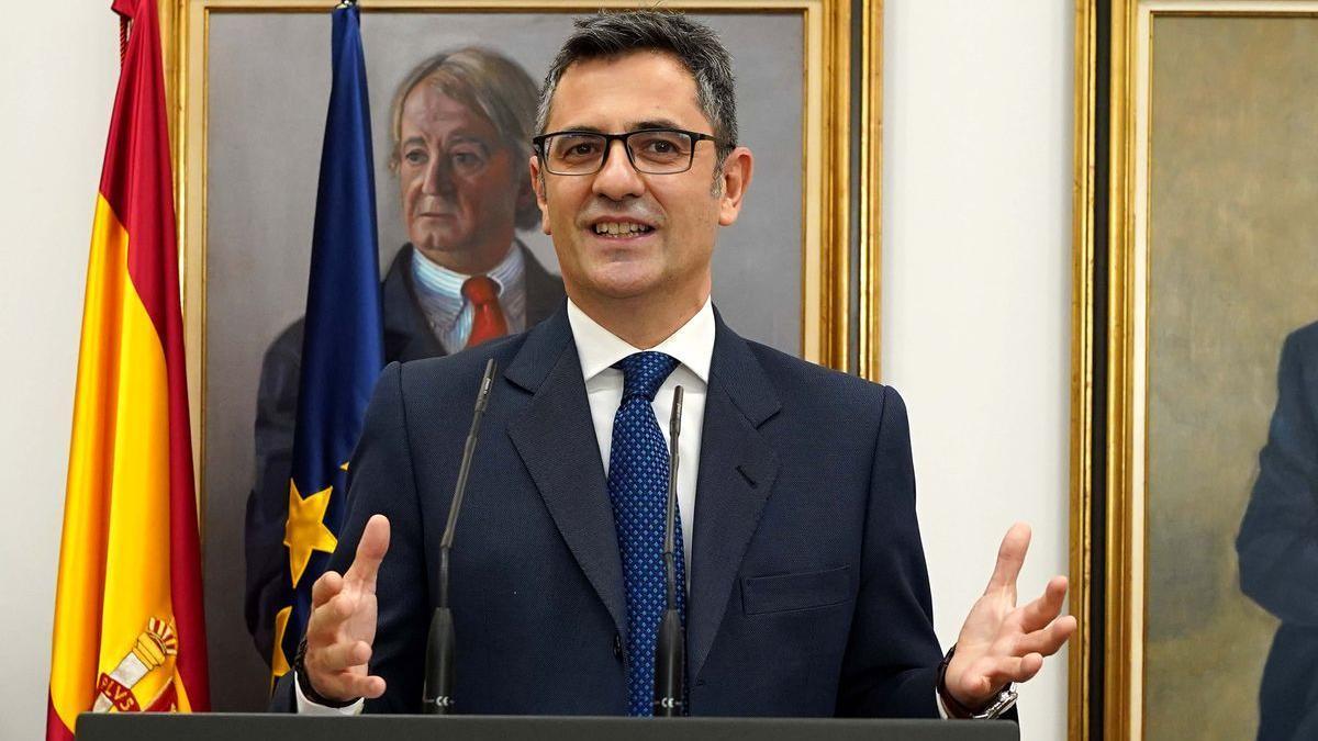 Félix Bolaños, ministro de la Presidencia, el pasado 12 de julio, el día que tomó posesión de su cargo.