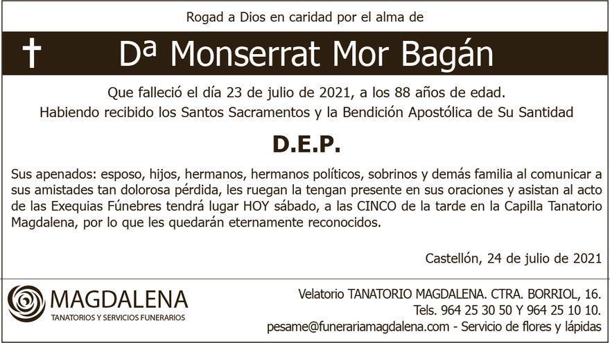 Dª Monserrat Mor Bagán