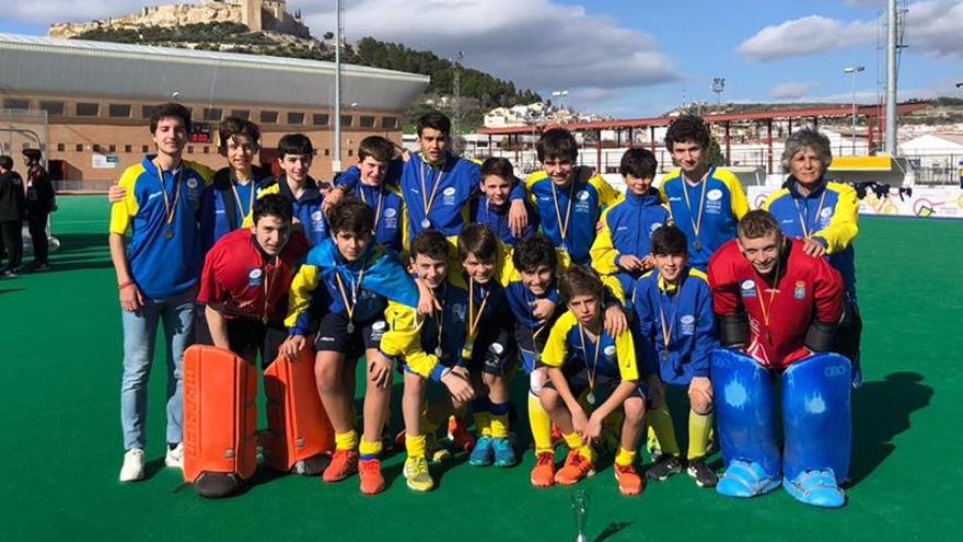La selección asturiana masculina sub-14, plata en el campeonato de España