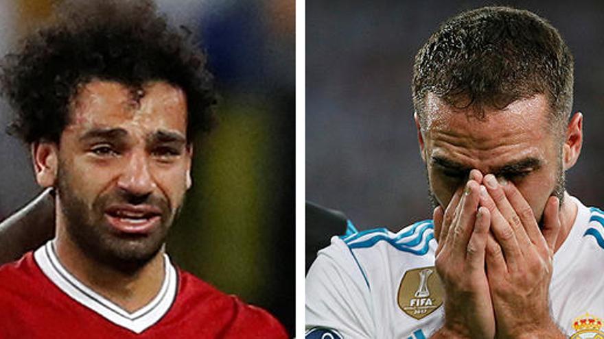 Salah y Carvajal se fueron lesionados y llorando