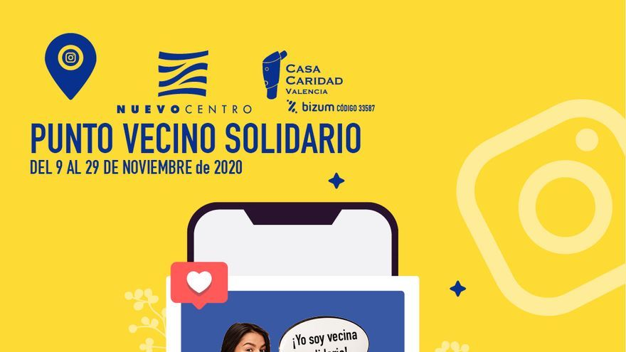 Casa Caridad y Nuevo Centro lanzan el reto 'Vecino Solidario 2020'
