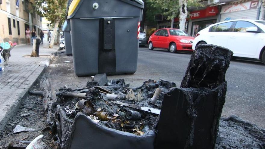 Identificados dos niños de 10 años como presuntos autores del incendio de un contenedor