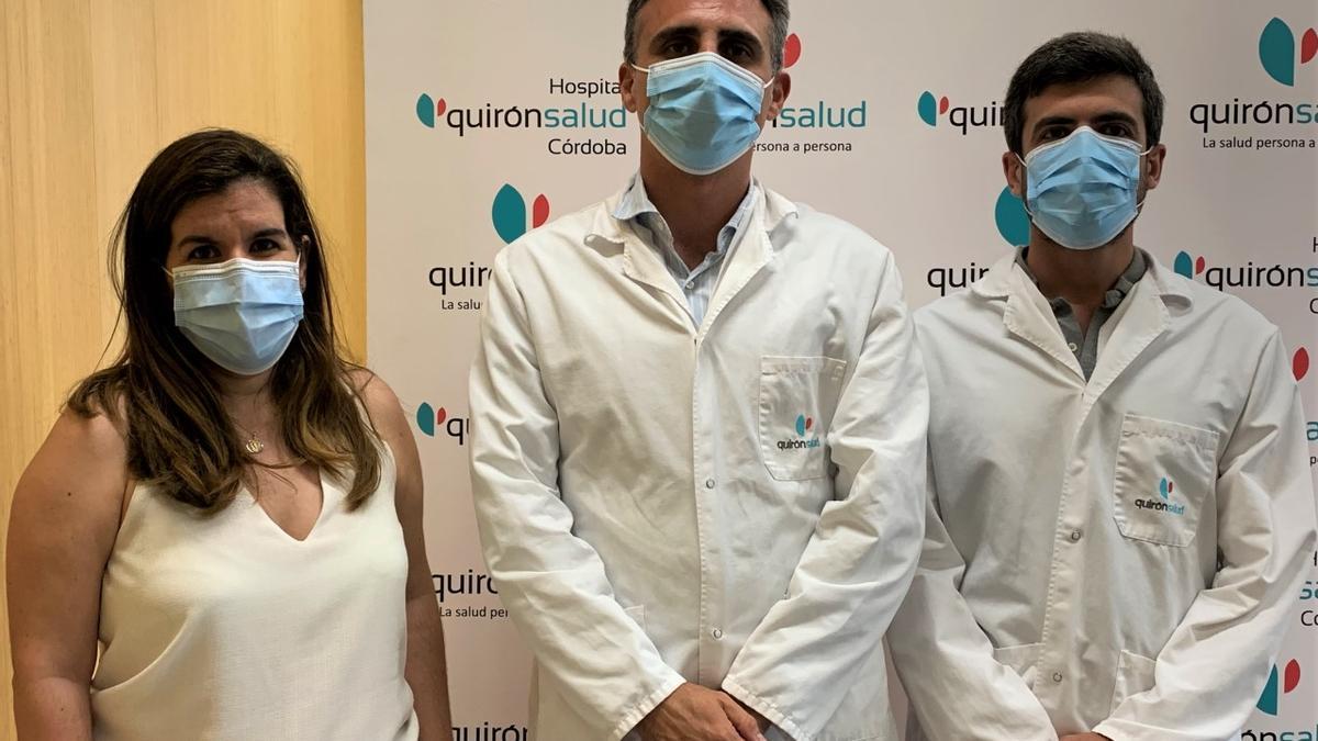 Algunos de los organizadores de las jornadas del hospital QuirónSalud.