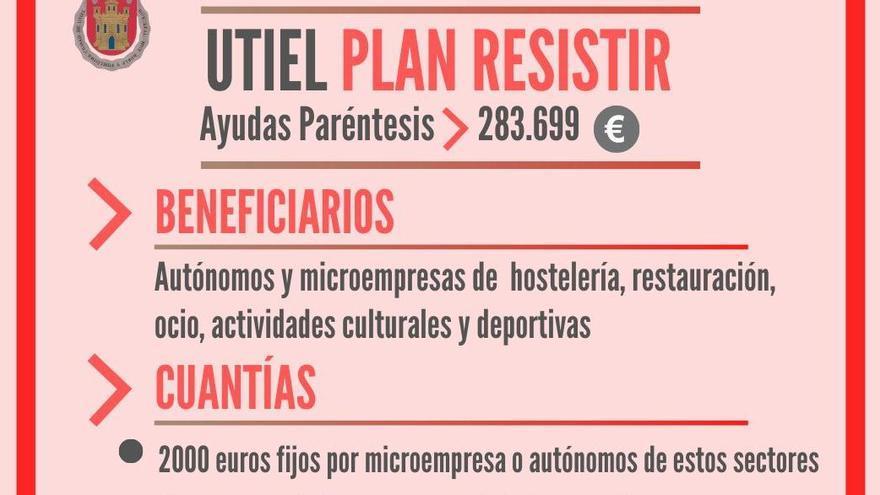 Autónomos y microempresas de Utiel podrán acogerse al Plan Resistir a partir del 27 de febrero