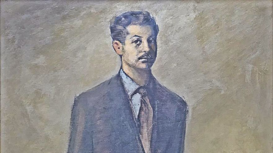 Julio Magdalena dona a Gijón el retrato que le pintó Marola