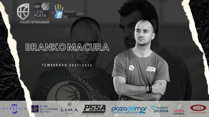 Branko Macura será el nuevo entrenador asistente del CB Marbella