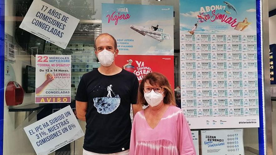 Los loteros de Ibiza van a la huelga para exigir sus derechos