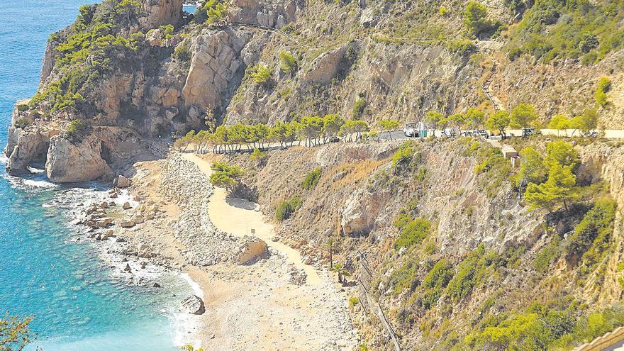 Los bañistas deberán acceder a pie a la Cala del Moraig en el futuro