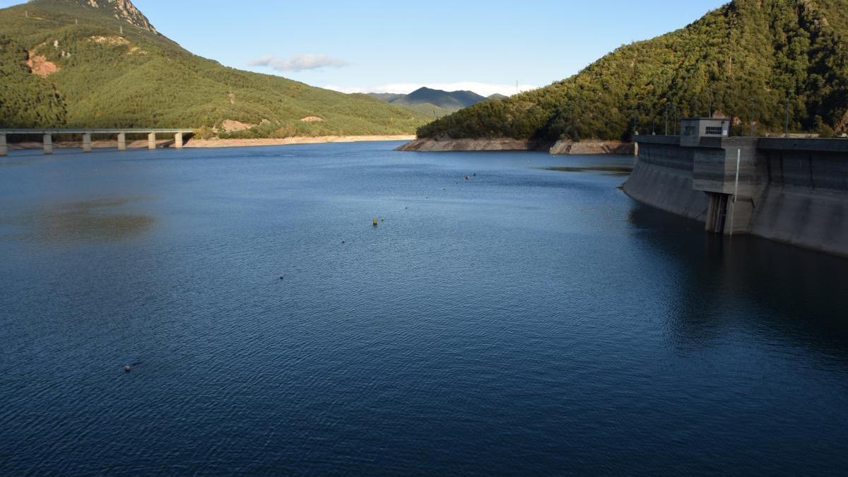 El pantà de La Baells està al 97% de la seva capacitat