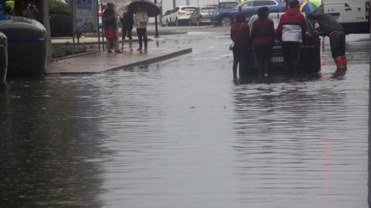 Inundaciones en Gijón por las fuertes lluvias
