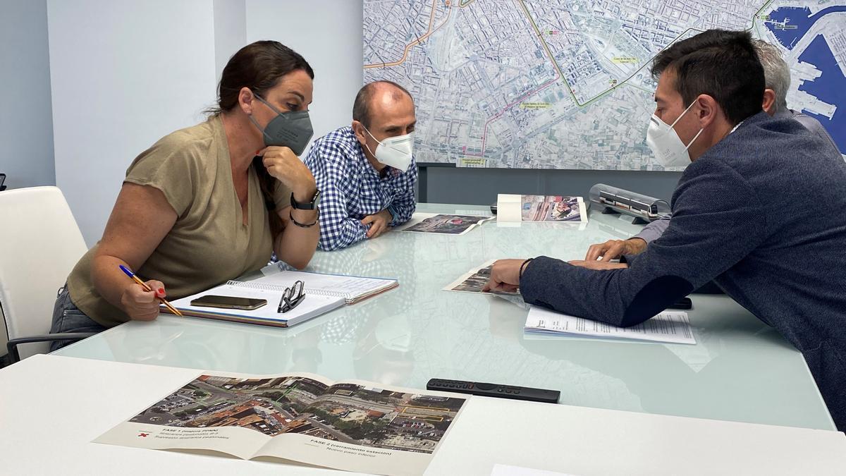 Menguzzato y García durante la reunión