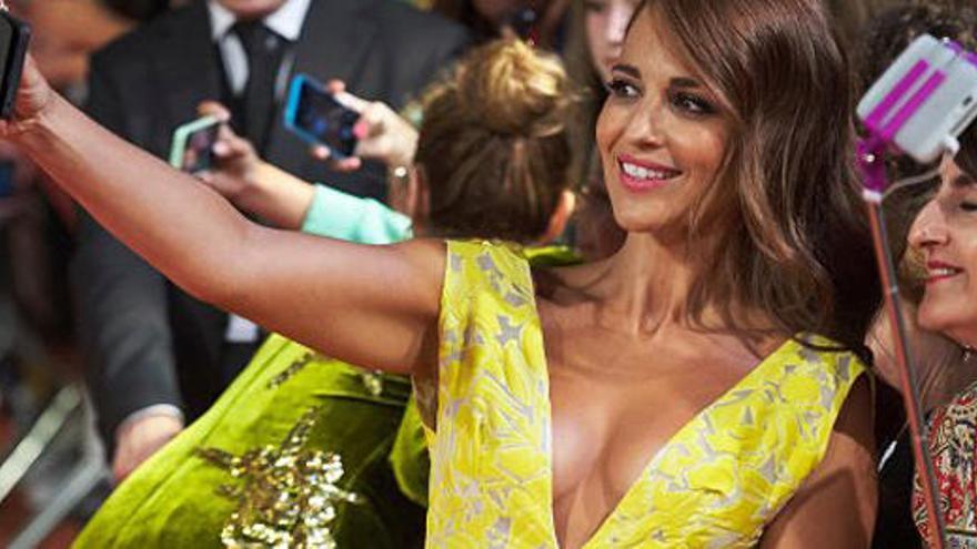 Paula Echevarría presumeix d'escot després d'un augment de pit