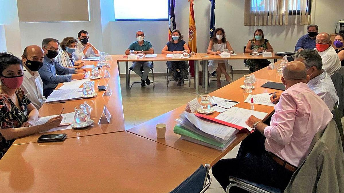 Momento de la reunión mantenida ayer por la Comisión mixta Govern-Consells Insulars. | CAIB
