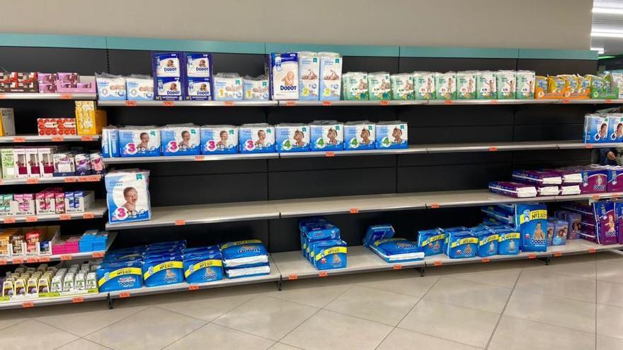 Supermercats de Figueres amb productes esgotats